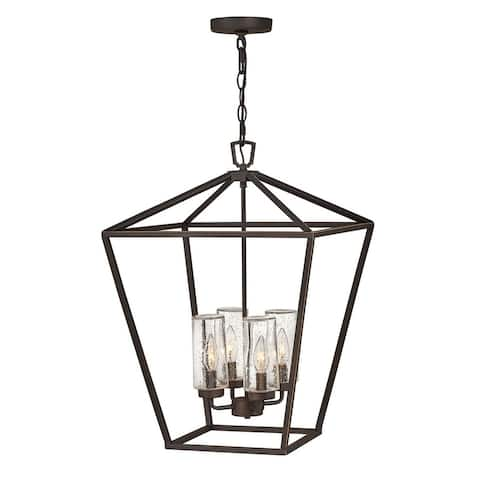 Alford Place 4-Light Medium Hanging Oil Rubbed Bronze Outdoor Chandelier