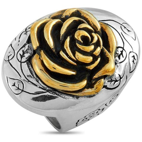 King Baby Sterling Silver and Alloy Rose Ring Size 12