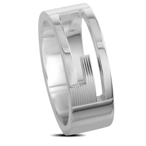 Gucci Silver Branded Ring Slim Version Size 5.25