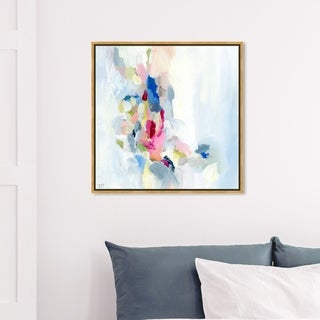 Link to Oliver Gal Abstract Wall Art Framed Canvas Prints 'Mi Alegria' Paint - White, Pink Similar Items in Canvas Art