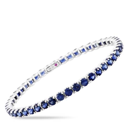 Roberto Coin White Gold and Sapphire Bangle Bracelet