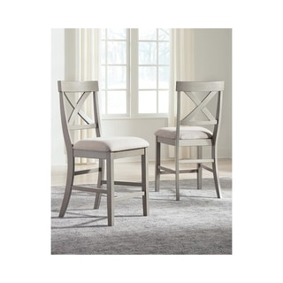 Parallen Gray Counter Height Barstool, Set of 2