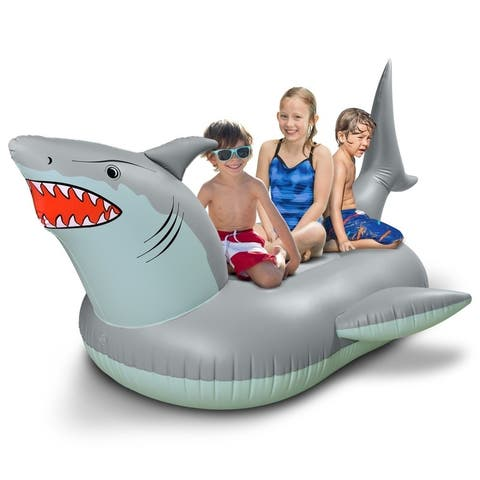 GoFloats Giant Inflatable Shark Pool Float