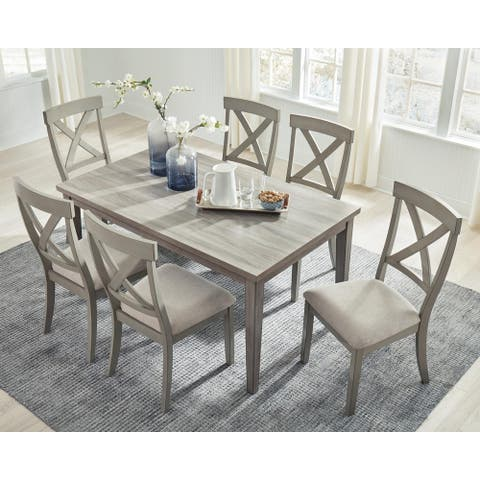 Parallen Gray Rectangular Dining Table