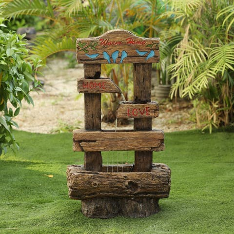 Resin Rustic Home Outdoor Fountain