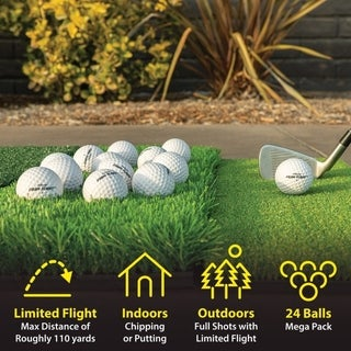 Link to GoSports Foam Flight Practice Golf Balls 24 Pack - White Similar Items in Golf Training Aids