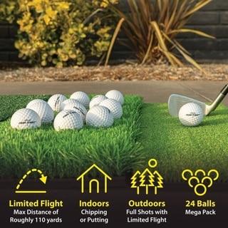 Link to GoSports Foam Flight Practice Golf Balls 24 Pack - White Similar Items in Golf Balls
