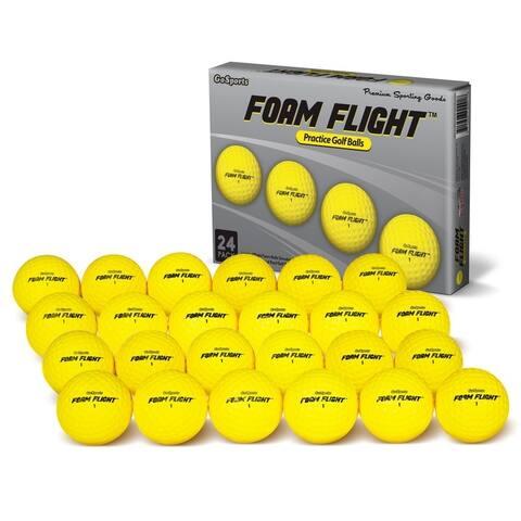 GoSports Foam Flight Practice Golf Balls 24 Pack - Yellow