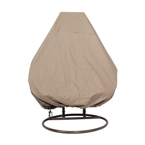 "LeisureMod Outdoor Wicker 2 person Hanging Egg Swing Chair Cover - 92"" x 80"""