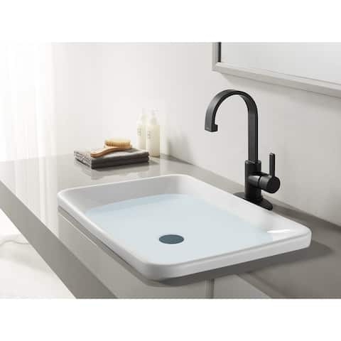 Continental Single-handle Bathroom Faucet with Push Pop-Up