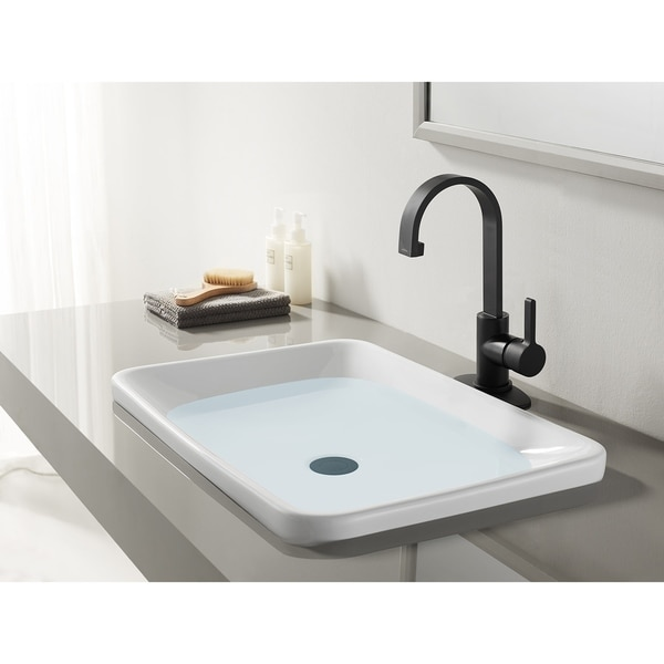 Continental Single-Handle Bathroom Faucet with Push Pop-Up. Opens flyout.