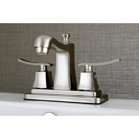 Queensbury 4-Inch Centerset Bathroom Faucet in Brushed Nickel