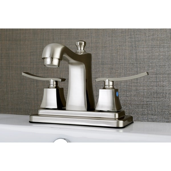 Queensbury 4-Inch Centerset Bathroom Faucet in Brushed Nickel. Opens flyout.