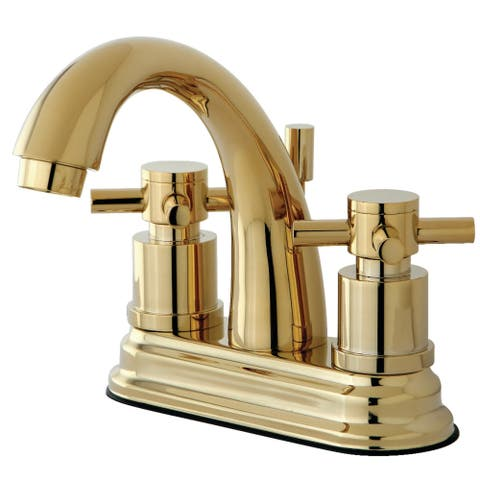 Concord 4-Inch Centerset Bathroom Faucet in Polished Brass