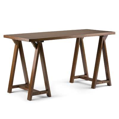 WYNDENHALL Hawkins SOLID WOOD Industrial 56 inch Wide Writing Desk