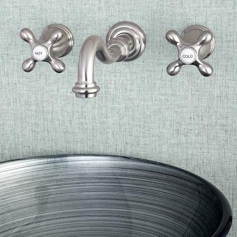 Vintage 2-Handle Wall Mount Bathroom Faucet