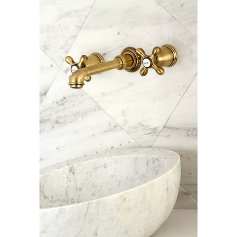 English Country Two-Handle Wall Mount Bathroom Faucet