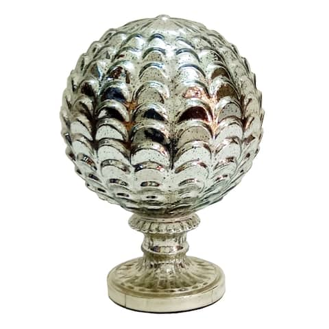 A&B Home Silver Artichoke Décor