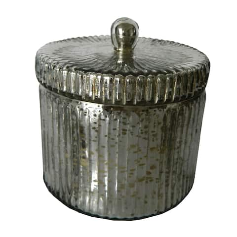 A&B Home Earl Grey Silver Lidded Scented Soy Wax Candle