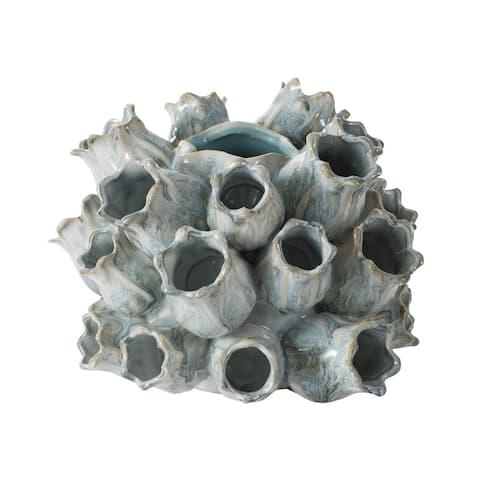 A&B Home Blue Coral Ceramic Vase