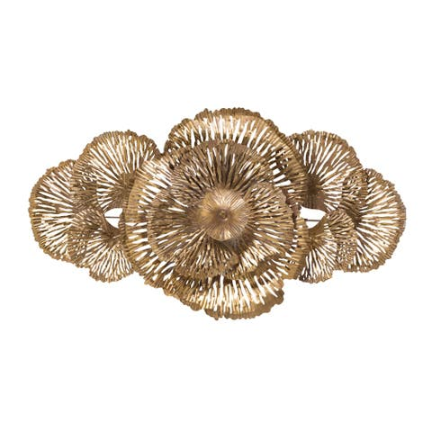 A&B Home Gold Floral Wall Décor