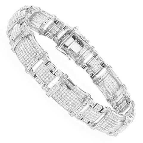 Luxurman Mens Real Diamond Bracelet 10K Gold 4ct