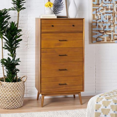 OkiOki Mid-Century Five Drawer Dresser