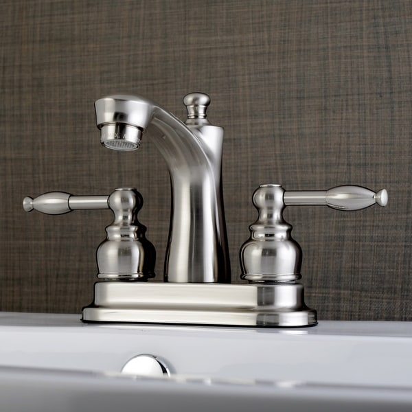 Knight 4-Inch Centerset Bathroom Faucet in Brushed Nickel. Opens flyout.