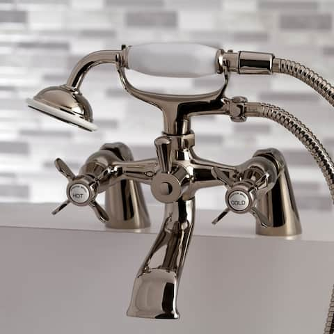 Essex 6-in Centers Deck Mount Clawfoot Tub Faucet with Hand Shower
