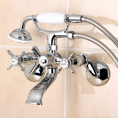Essex Wall Mount Clawfoot Tub Faucet with Hand Shower