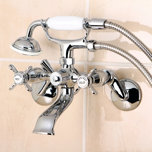Essex Wall Mount Clawfoot Tub Faucet with Hand Shower. Opens flyout.