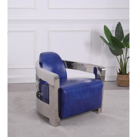 Somette Contemporary Accent Chair, Blue - Accent Chair