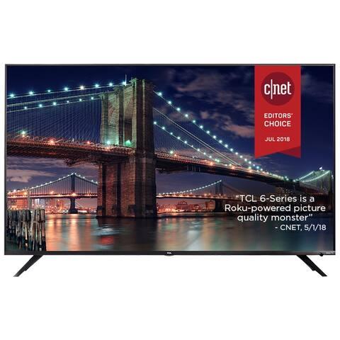 """Refurbished TCL 55"""" 4K UHD DOLBY VISION HDR ROKU SMART TV"""