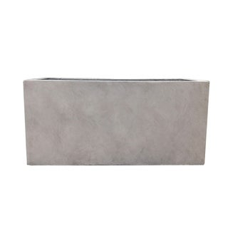 Link to Kante Lightweight Durable Modern Rectangle Outdoor Planter, 31 Inch Long, Weathered Concrete Similar Items in Planters, Hangers & Stands