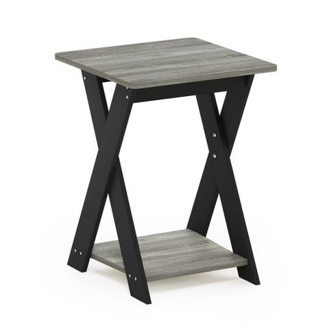 Furinno Modern Simplistic Criss-Crossed End Table