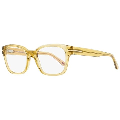 Tom Ford TF5535B 045 Unisex Transparent Champagne 54 mm Eyeglasses - Transparent Champagne