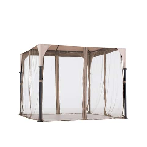 Sunjoy Replacement Mosquito Netting for Bardine Gazebo (9'X9') L-GZ375PST