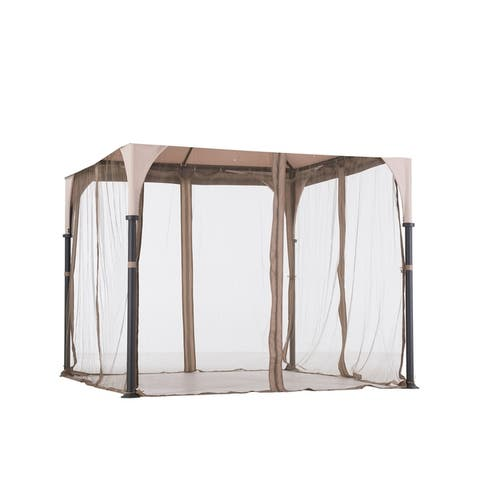 Sunjoy Replacement Mosquito Netting for Bardine Gazebo (9'X9') L-GZ375PST