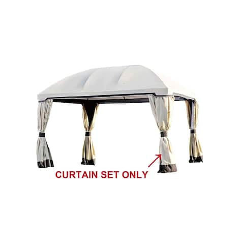 Sunjoy Replacement Curtain for Pomeroy Domed Top Gazebo (10'x13') L-GZ702PST