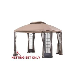 Sunjoy Replacement Mosquito Netting for Terrace Gazebo (10'X12') L-GZ454PST-C