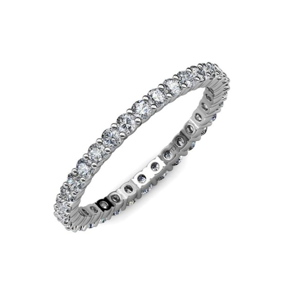 1//8 cttw, G-H,I2-I3 Size-12.75 Diamond Wedding Band in 10K White Gold