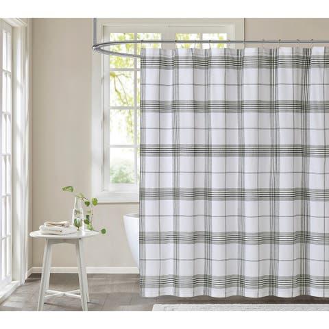 Cottage Classics Cottage Plaid Shower Curtain