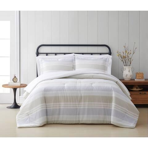 Cottage Classics Spa Stripe 3 Piece Comforter Set