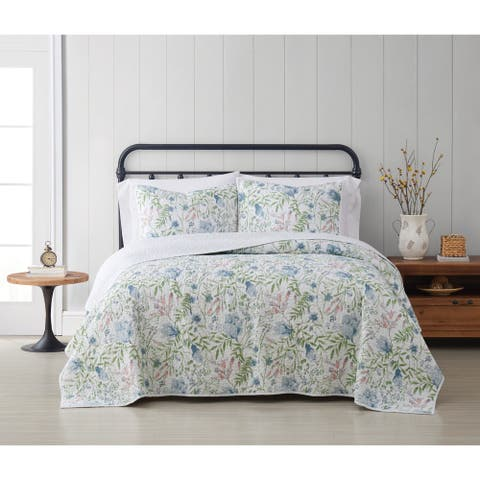 Cottage Classics Field Floral 3 Piece Quilt Set