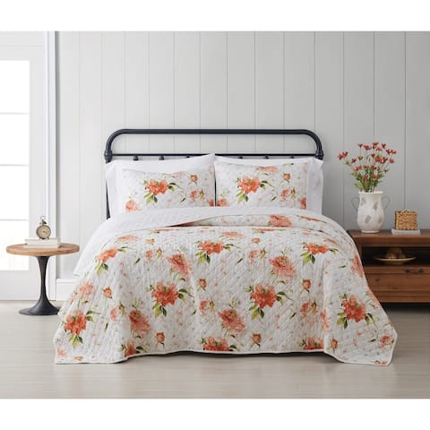 Cottage Classics Veronica Floral 3 Piece Quilt Set