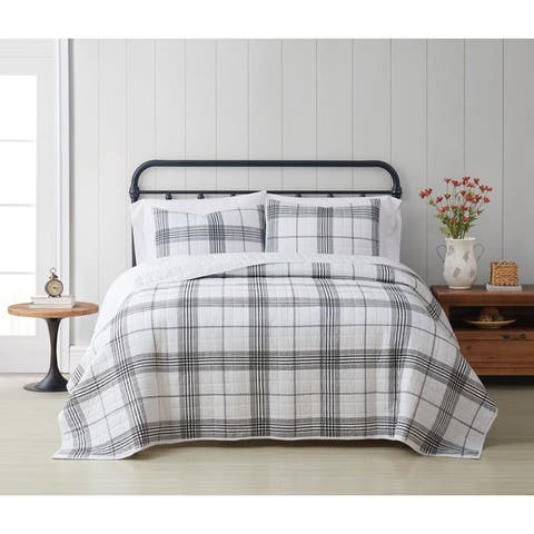 Cottage Classics Cottage Plaid 3 Piece Quilt Set