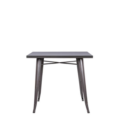 Dining table made of steel - Chrome colour