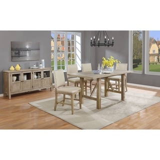 Link to Best Quality Furniture Rustic Counter Height Dining Sets with Upholstered Counter Height Chairs and Server Similar Items in Dining Room & Bar Furniture