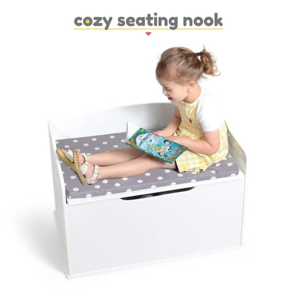 Shop Milliard Wooden Toy Box And Storage Chest With Seating Bench