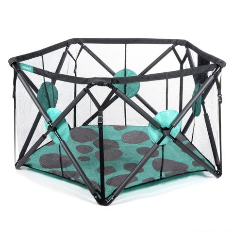 Milliard Playpen Portable Playard with Cushioning for Safety, For Travel, Indoor and Outdoor Play Yard Pen 48 x 27.5